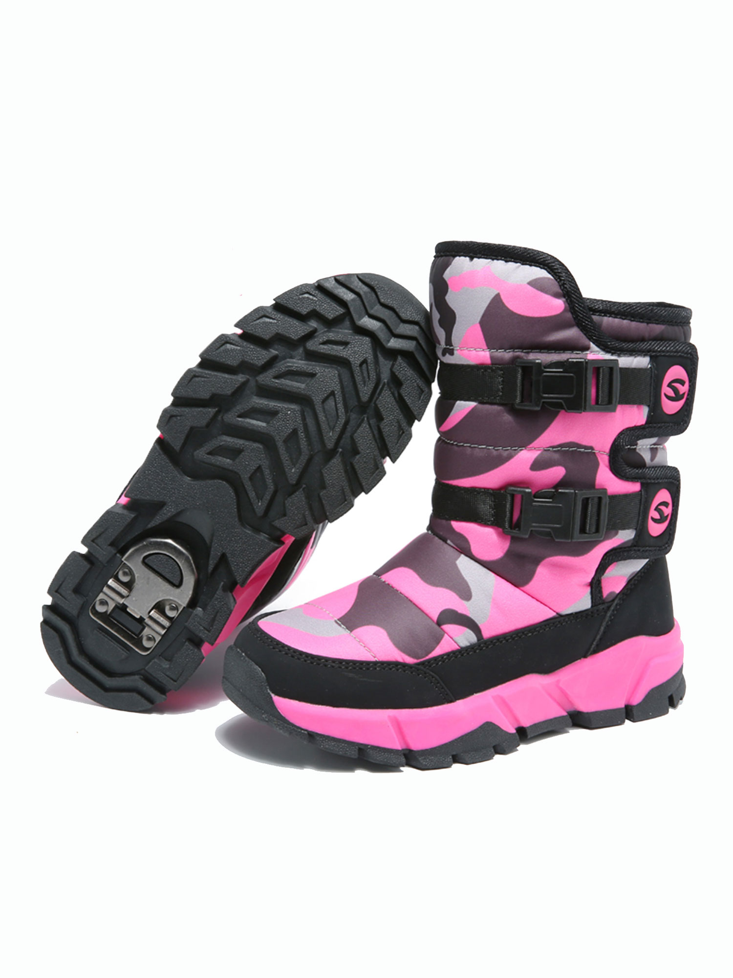 Snow Boots for Boys and Girls Waterproof Slip Resistant Winter Warm Shoes (Toddler/Little Kid/Big Kid)