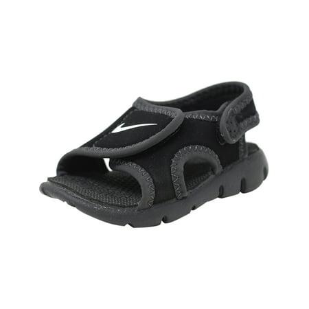 fa527ae637a8 Nike - Nike Sunray Adjust 4 Black   White - Anthracite Sandal 10M -  Walmart.com