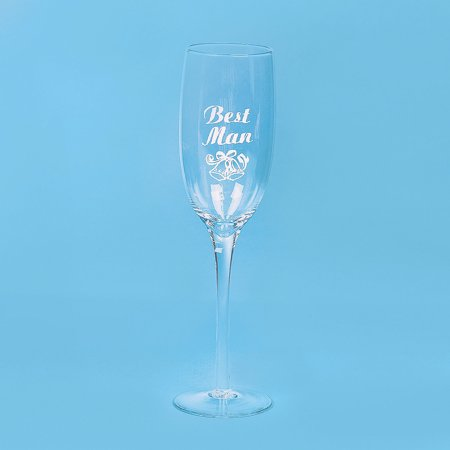 Fun Express - Best Man Champagne Flute for Wedding - Home Decor - Entertaining - Drinkware - Wedding - 1