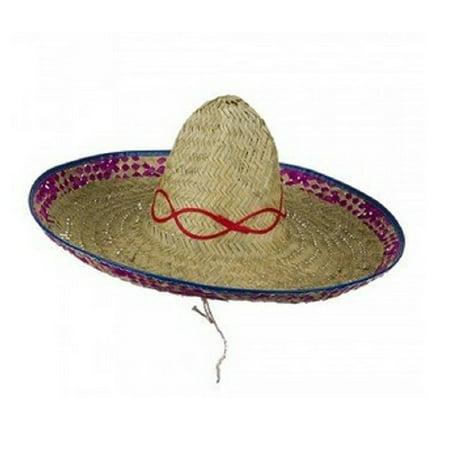SOMBRERO STRAW ADULT HAT - Custom Sombrero