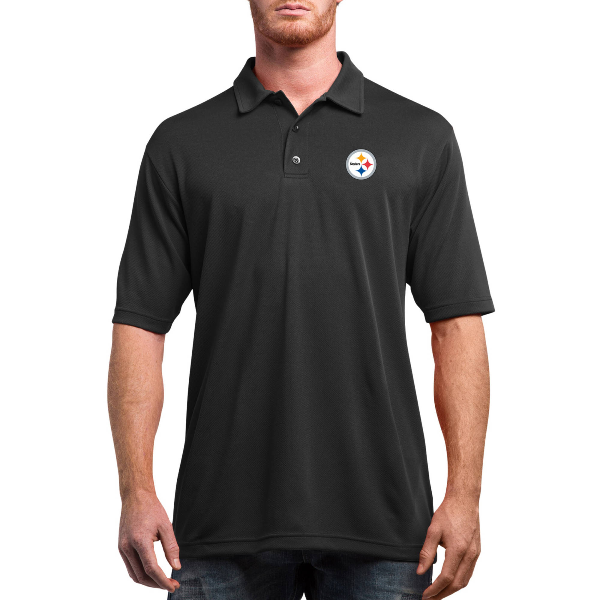 NFL Pittsburgh Steelers On to the Win Men's Big and Tall Short Sleeve Polo