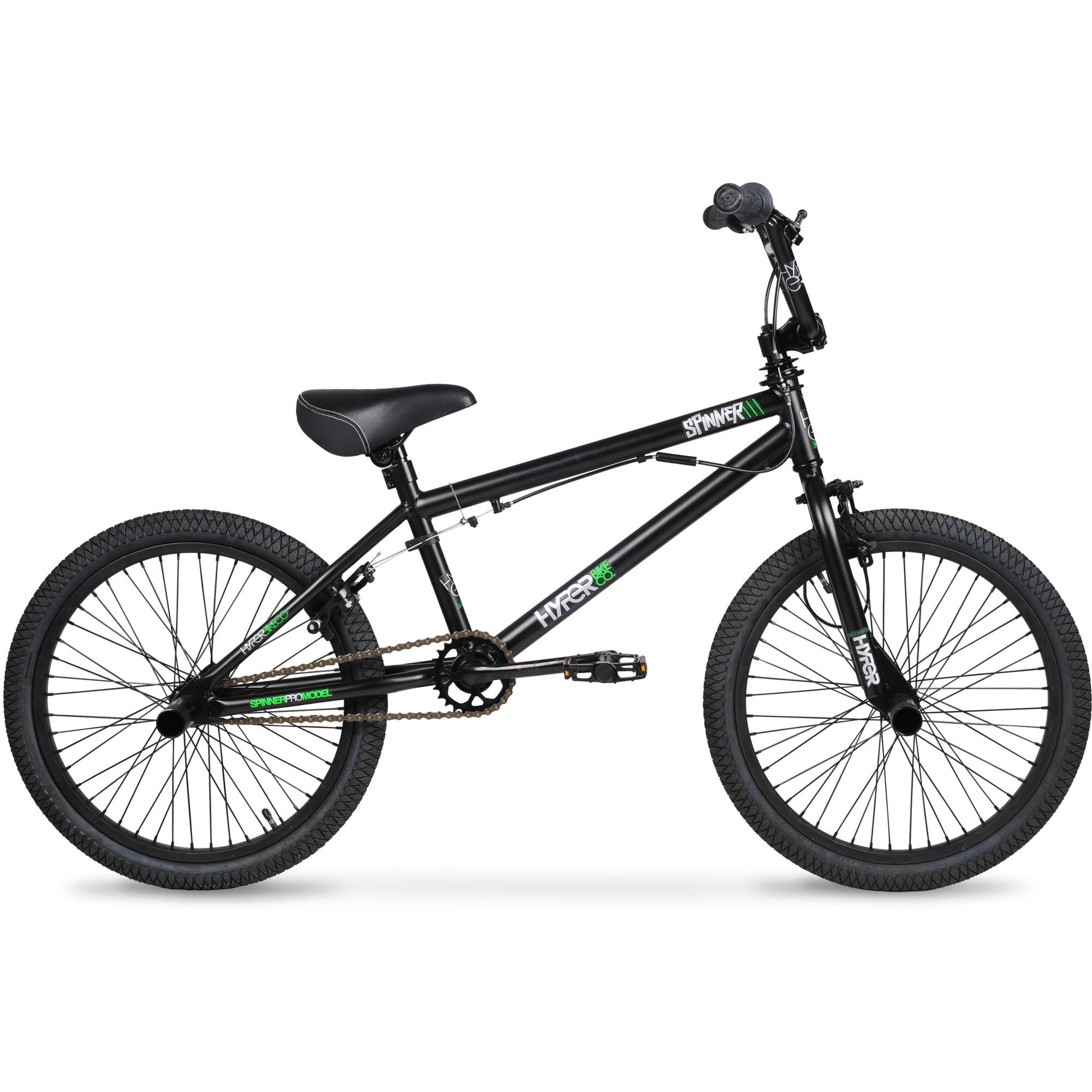 "20"" Hyper Spinner Pro Boys' BMX Bike, Black Green by Ballard Pacific Resources"