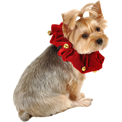 SimplyDog Holiday Bell Dog Scrunchie
