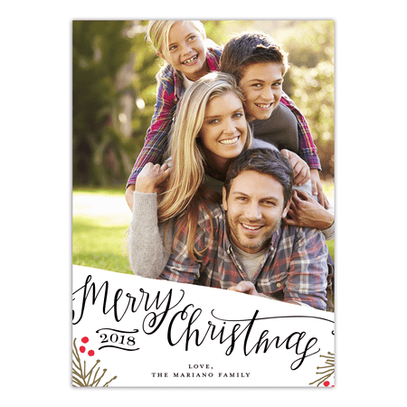 merry christmas happy new year 5x7 personalized holiday card