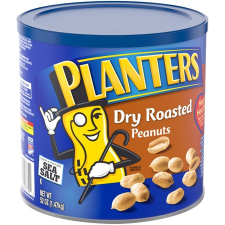 Peanut Roasted Trail Mix - Planters Dry Roasted Peanuts, 52 oz Can