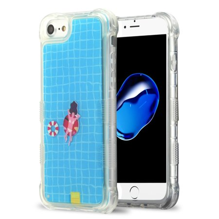 Apple iPhone 6/6s/7/8 Case, by Insten Tuff AquaLava Water Color Hard Plastic/Soft TPU Rubber Transparent Case Cover For Apple iPhone 6/6s/7/8, Multi-Color - image 6 de 6