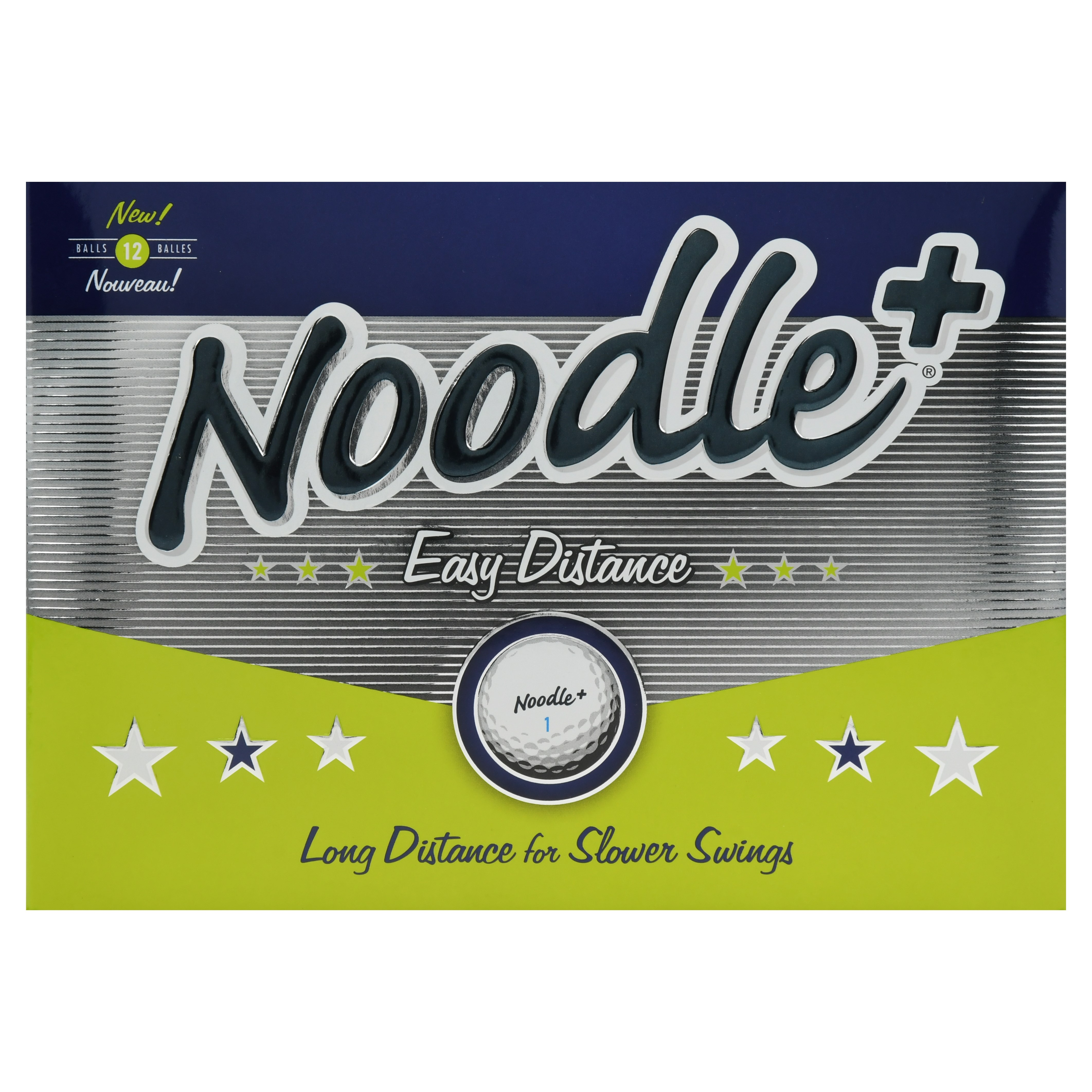 Noodle Plus Easy Distance Golf Balls, 12 Pack by TaylorMade Golf Company