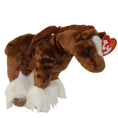 TY Beanie Baby - HOOFER the Clydesdale Horse (6 inch)](White Plush Horse)