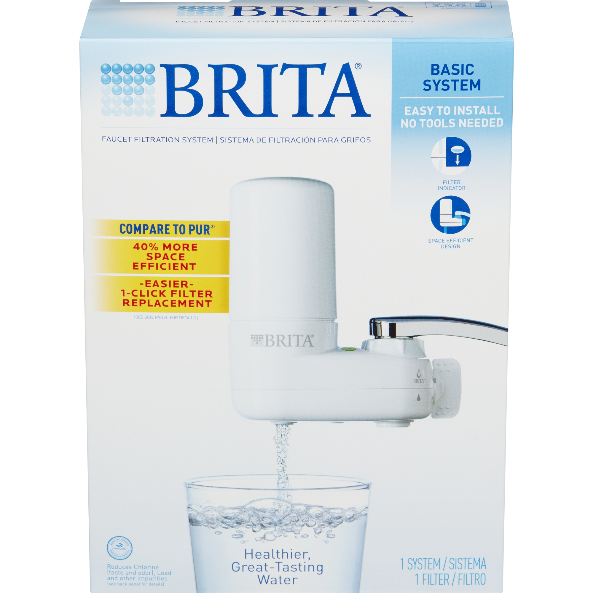 brita basic on tap faucet water filter system fits standard faucets only walmartcom - Water Filter