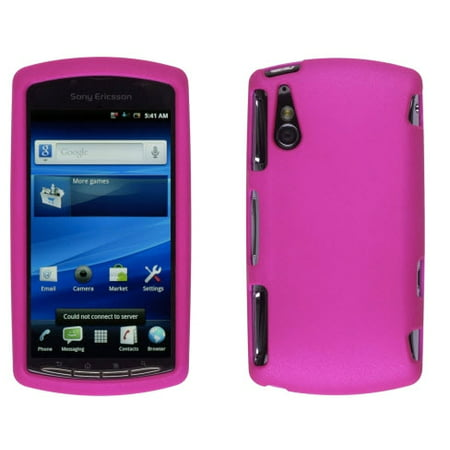 WIRELESS SOLUTIONS Soft Touch Snap-On Case for Sony Ericsson Xperia Play 4G - Pink (Sony Ericsson Touch)