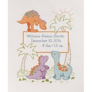 Bucilla Cutesaurus Birth Record Counted Cross-Stitch Kit, 1 Each