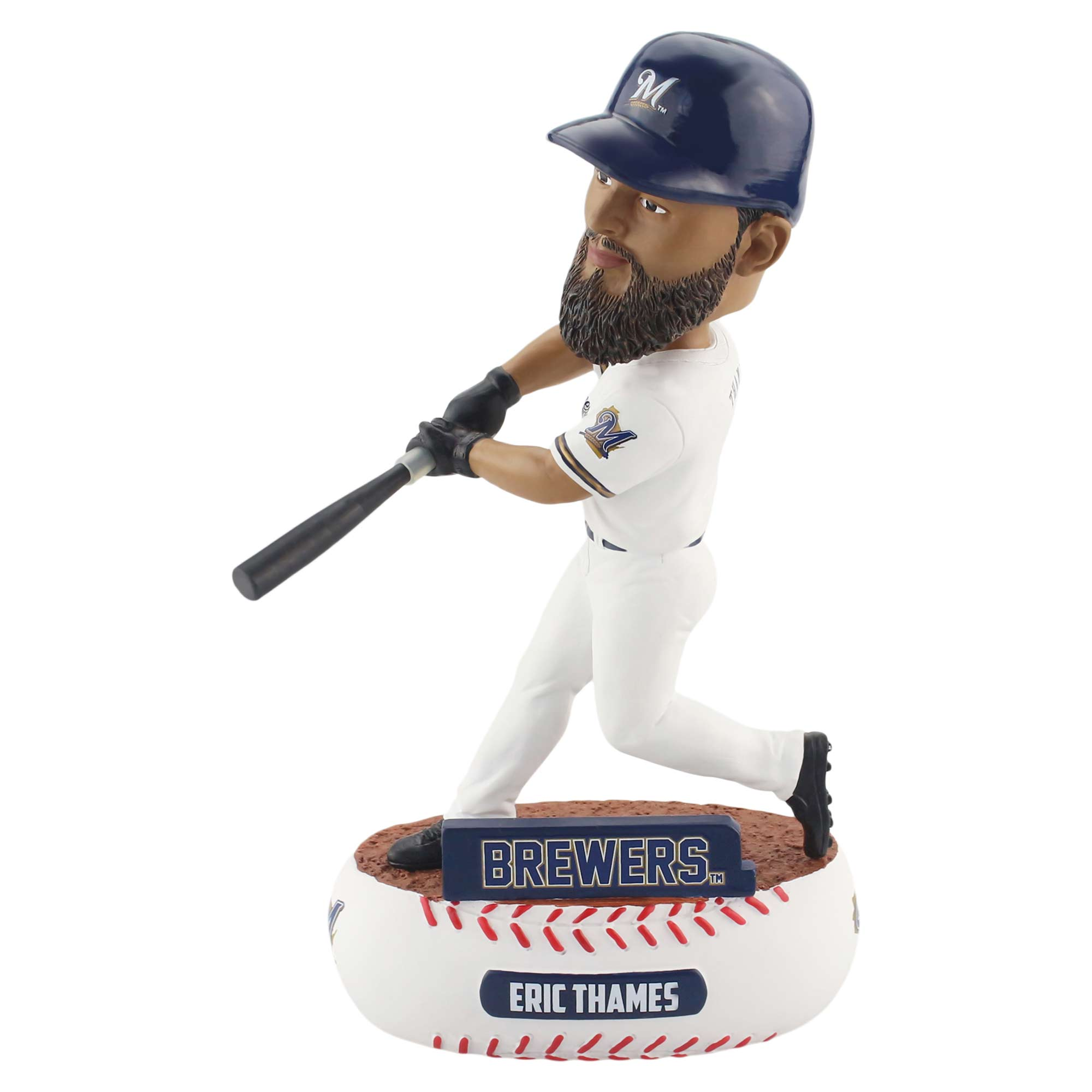 Eric Thames Milwaukee Brewers Player Baller Bobble - No Size
