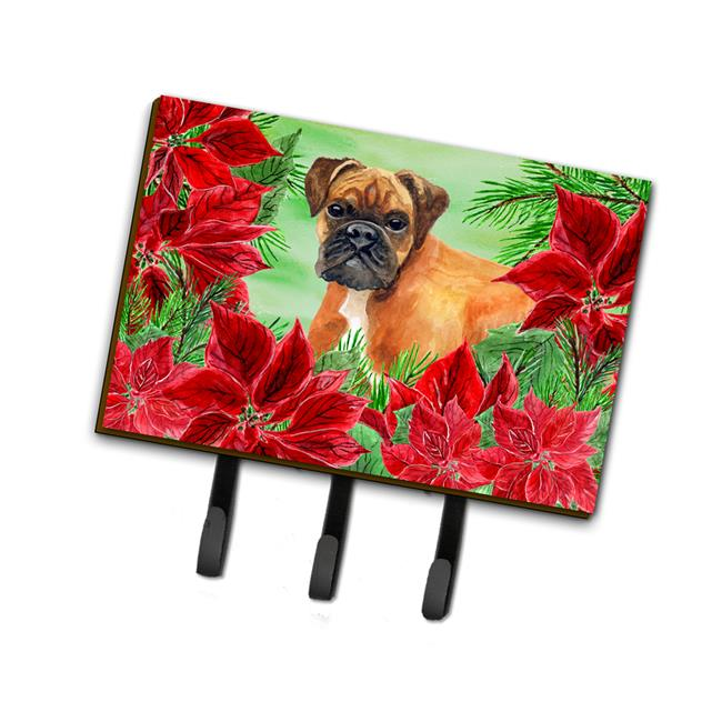 Carolines Treasures CK1289TH68 German Boxer Poinsettas Leash or Key Holder - image 1 de 1