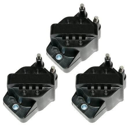 Set of 3 New Ignition Coil For Buick Chevrolet Cadillac GMC Pontiac L4 V6 C849 DR39 5C1058 E530C D555