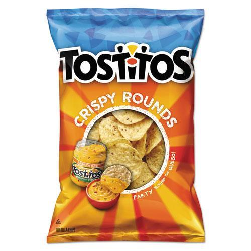 Tortilla Chips Crispy Rounds, 3 oz Bag, 28/Carton
