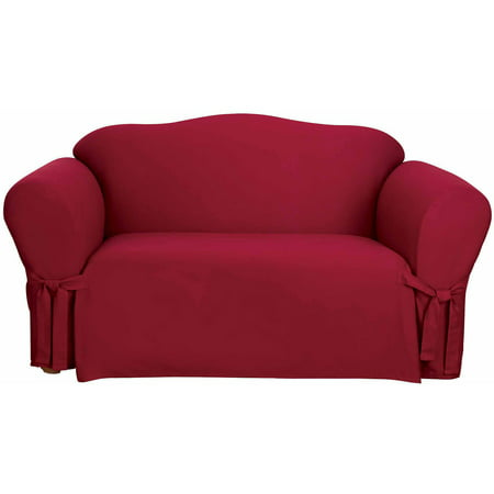 Sure Fit Cotton Duck Sofa Slipcover ()