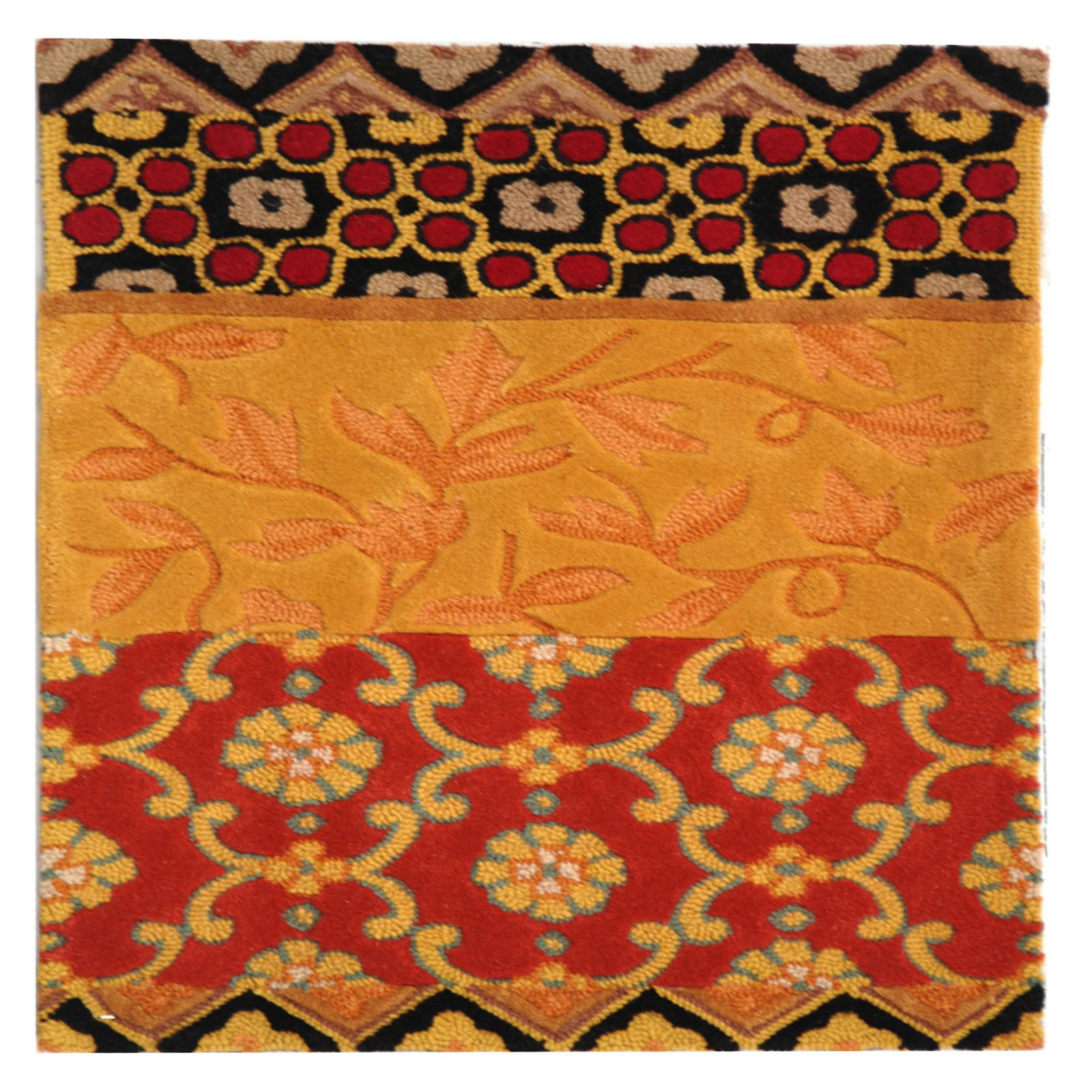 Safavieh Rodeo Drive Terrence Hand-Tufted Wool Runner Rug, Rust/Gold