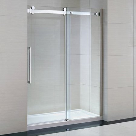 Ove Decors Sierra 59 x 79 Door Opening Frameless Shower Door