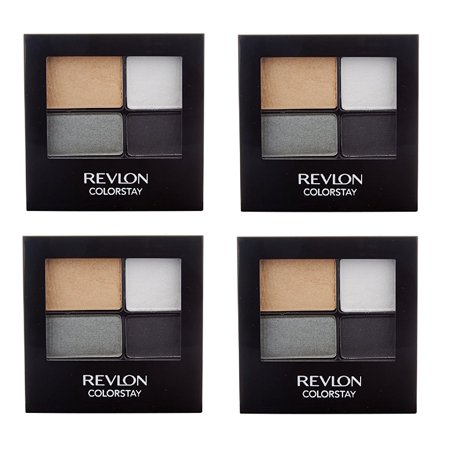 Revlon Colorstay 16 Hour Eye Shadow Quad, #584 Surreal (Pack of 4) + Cat Line Makeup Tutorial