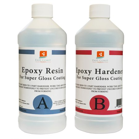 EPOXY RESIN 16 oz Kit. FOR SUPER GLOSS COATING AND -