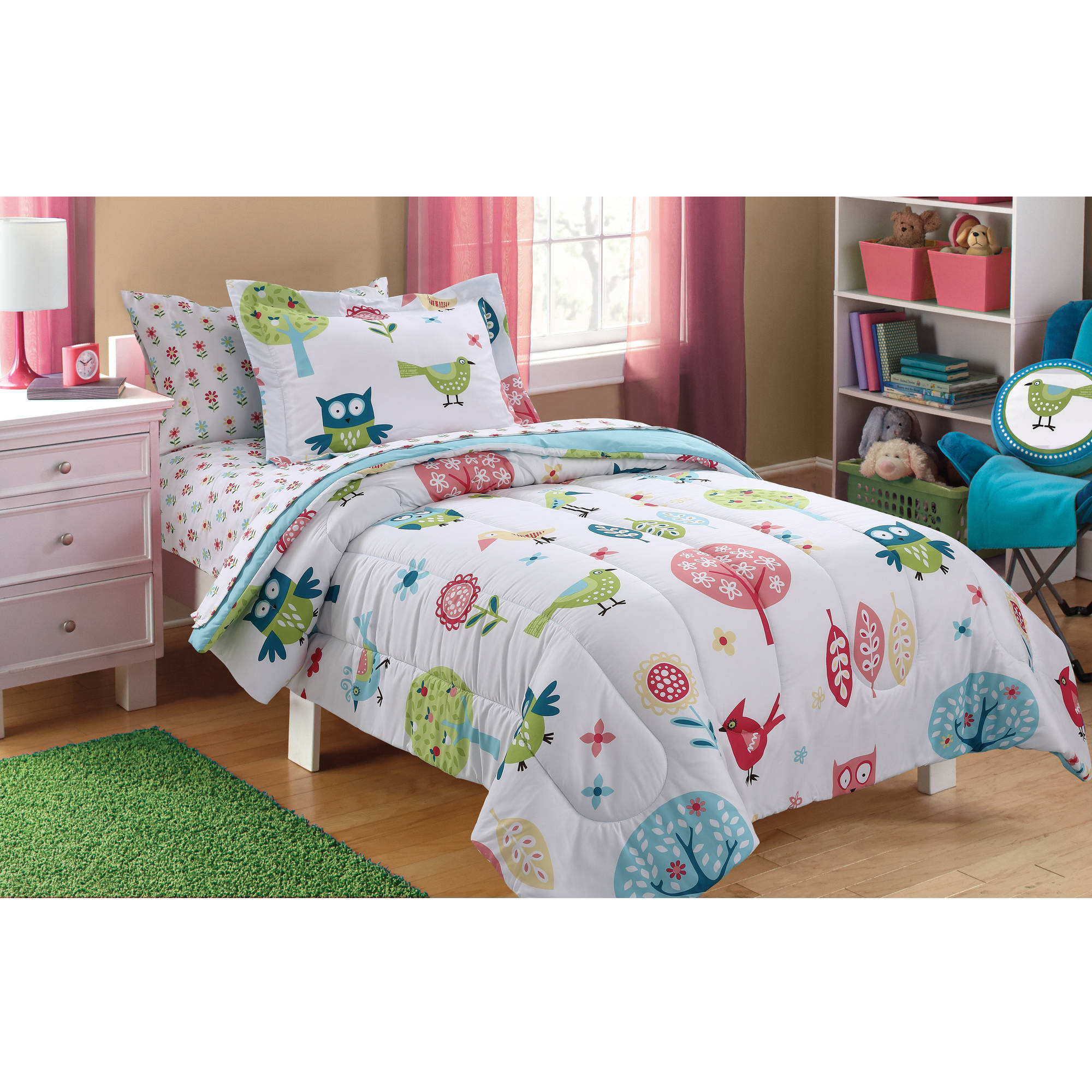 Mainstays Kids Woodland Bed in a Bag Bedding Set