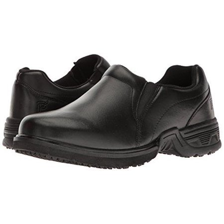 propet men's zane work shoe, black, 11 5 3e us