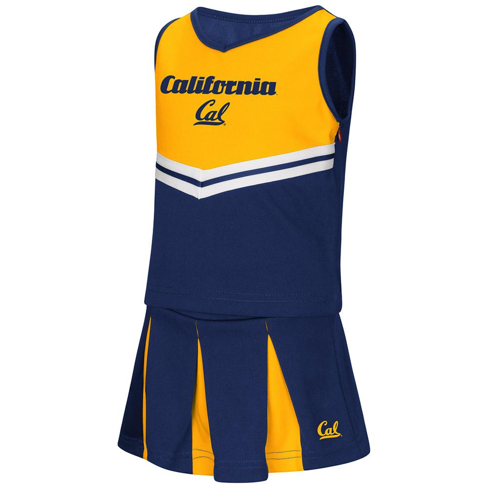 "California Golden Bears NCAA Toddler ""Pom Pom"" 2 Piece Set Cheerleader Outfit"