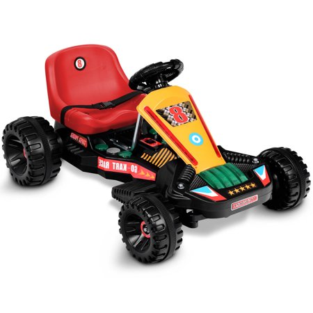 Gymax Go Kart Kids Ride On Car Electric Powered 4 Wheel Racer Buggy Toy ()