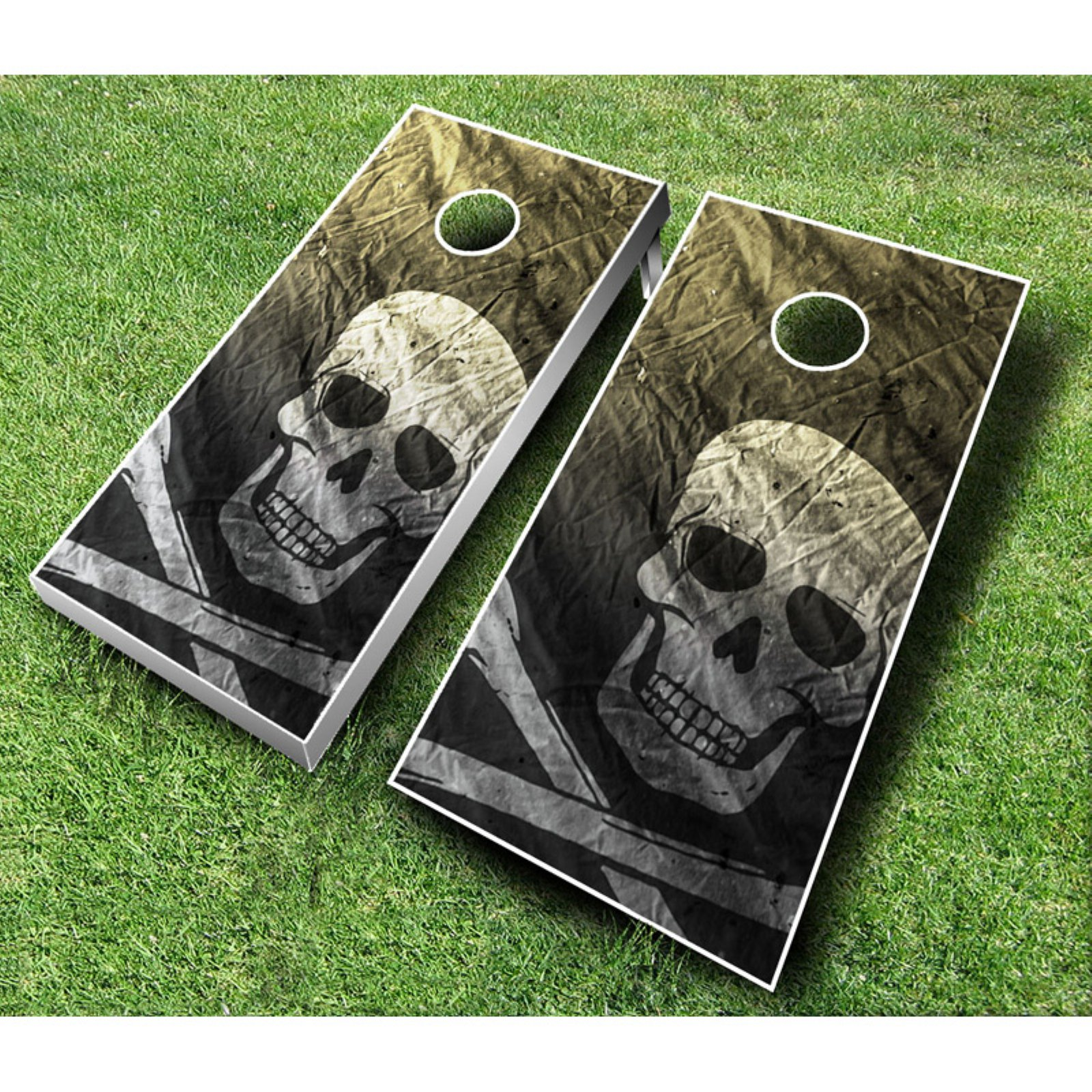 Pirate Cornhole Set with Bags by AJJ Cornhole
