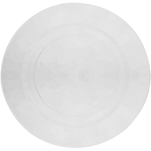 """10 Strawberry Street Hammered Glass 13"""" Charger Plates, Set of 6, Clear"""