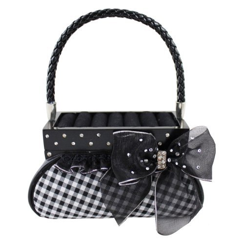 Retro Plaid Handbag Ring Holder and Jewelry Box