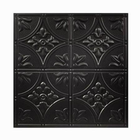 Acp Genesis Antique Black 2 X 2 Ft  Lay In Ceiling Tile  Pack Of 12