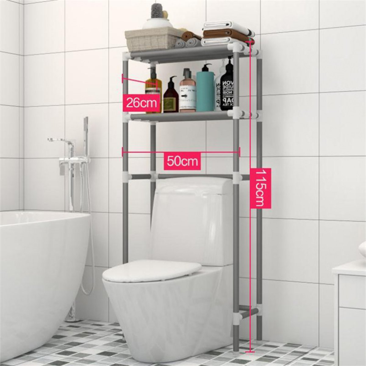 2shelf bathroom organizer over the toilet bathroom