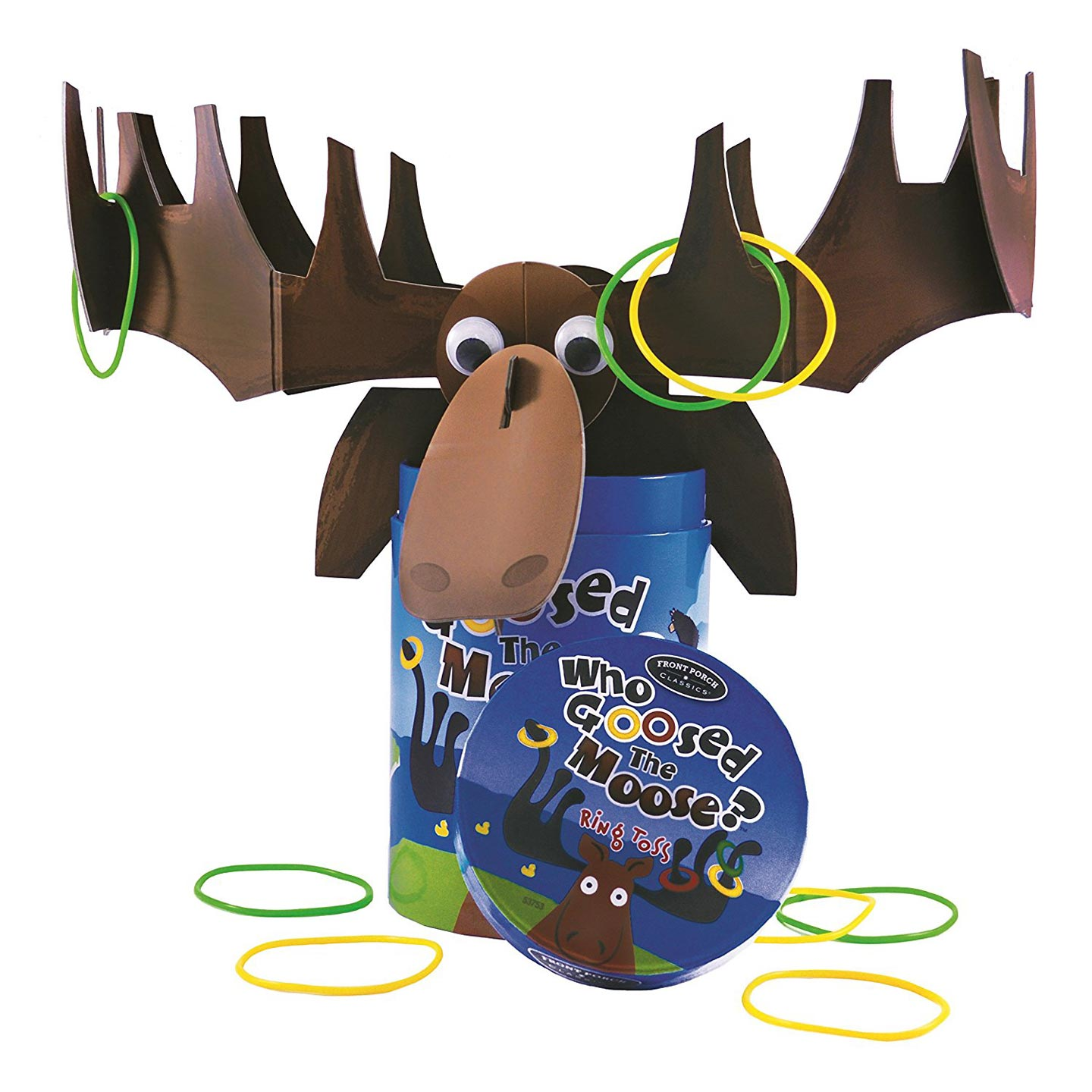 Front Porch Classics Who Goosed the Moose Ring Toss Game by University Games
