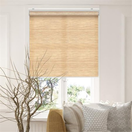 Chicology RSFC3372 33 x 72 in. Snap-N-Glide Cordless Roller Shades Privacy Window Blind Curtain Drape, Felton Cream - Natural Woven - image 1 de 1