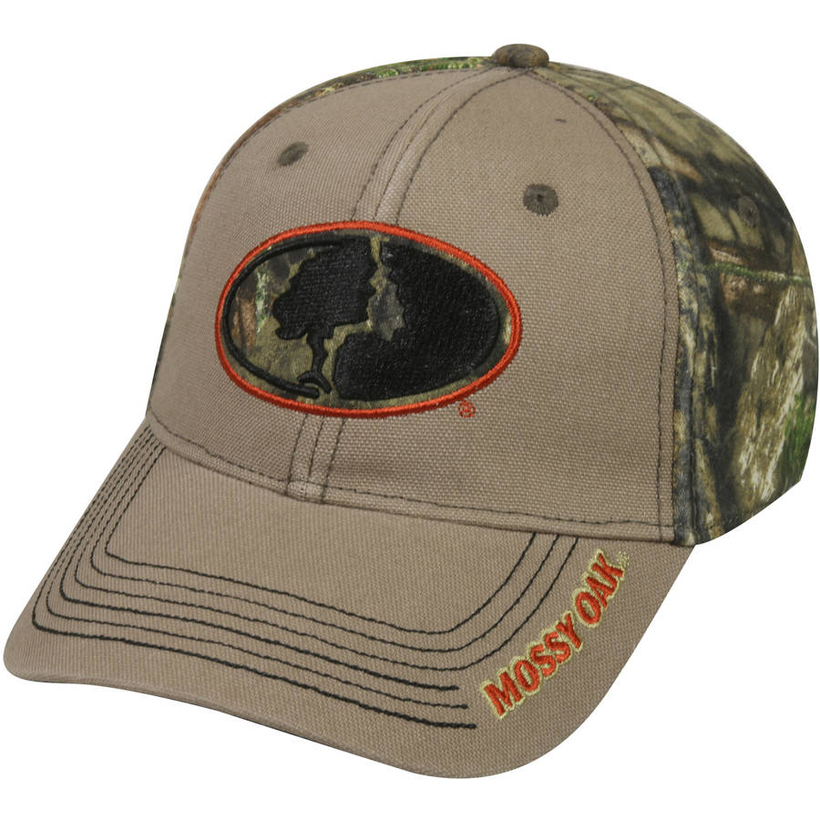 Mossy Oak Camo Cap, Mossy Oak Break-Up Country Camo/Khaki, Flexible Fitted
