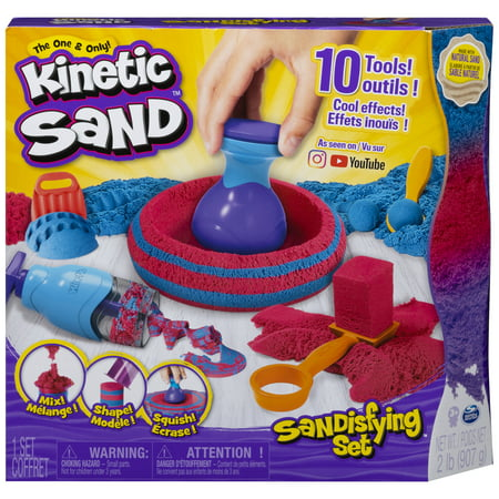 Kinetic Sand, Sandisfying Set with 2lbs of Sand and 10 Tools, for Kids Aged 3 and Up ()