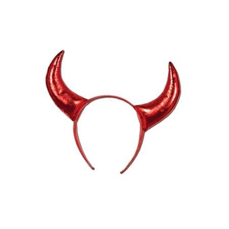Club Pack of 12 Shiny Red Devil Horn Headband Costume Accessories 10