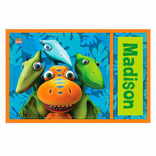 Personalized Dinosaur Train Buddy, Tiny, Shiny and Don Placemat
