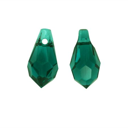 Swarovski Crystal Circle Drop (Swarovski Crystal, #6000 Classic Drop Pendants 11x5.5mm 4 Pieces, Emerald)