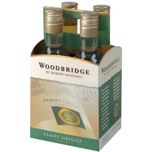Woodbridge by Robert Mondavi Pinot Grigio Wine, 4 pack, 187 mL