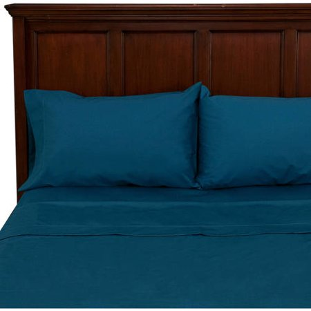 Mainstays 250 Thread Count Blue Full Bedding Sheet Set Collection ()