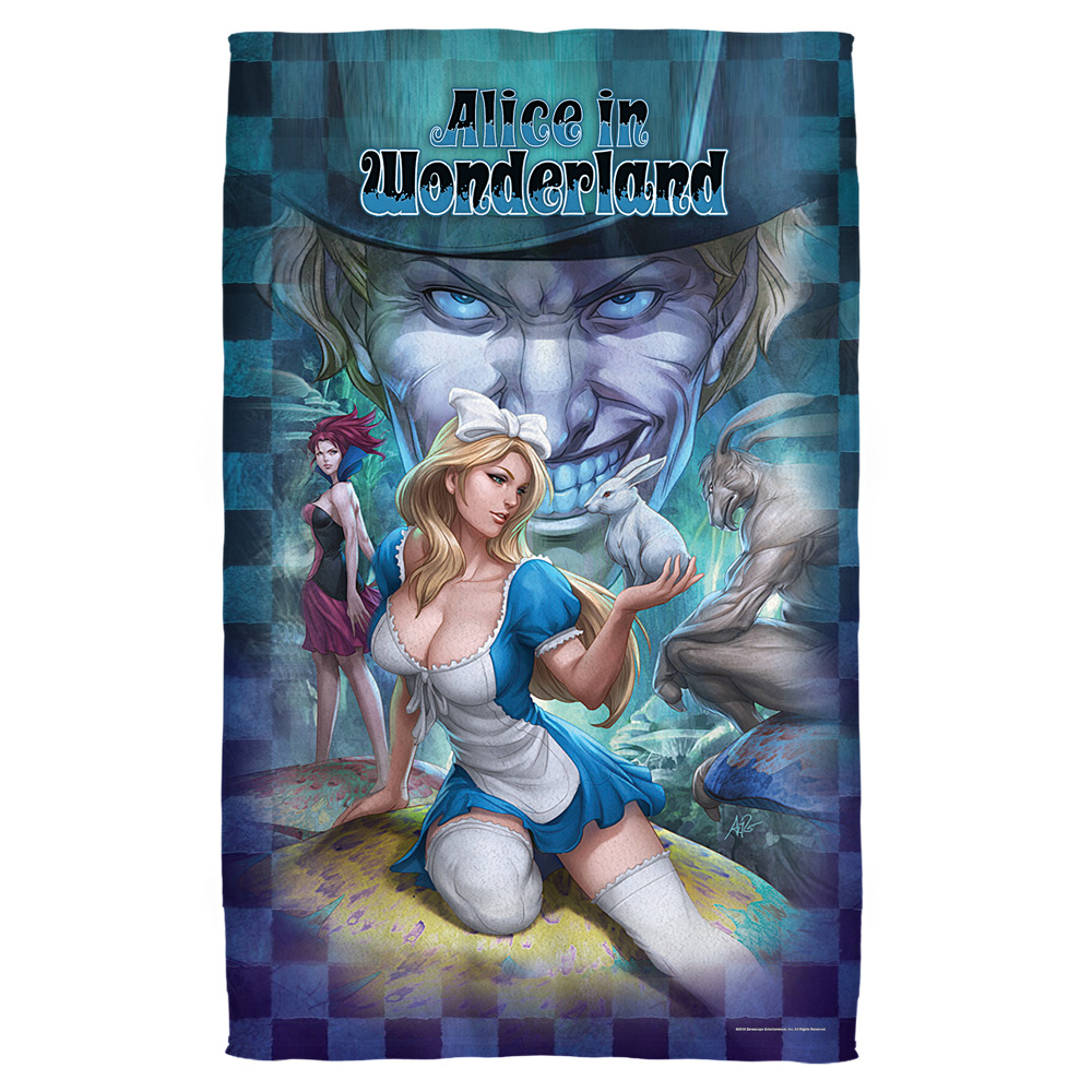 Zenescope Alice Beach Towel White 36X58