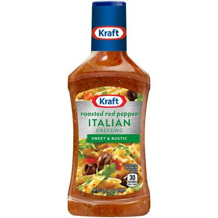 Kraft Salad Dressing Italian Roasted Red Pepper 16 Fl Oz 473ml
