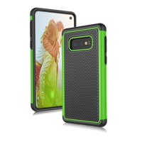 "Samsung Galaxy S10E Case, Galaxy S10E Sturdy Case, Njjex [Shock Absorption] Dual Layer Hybrid Armor Defender Protective Case Cover for Smamsung Galaxy S10E 5.8"" (2019) -Green"