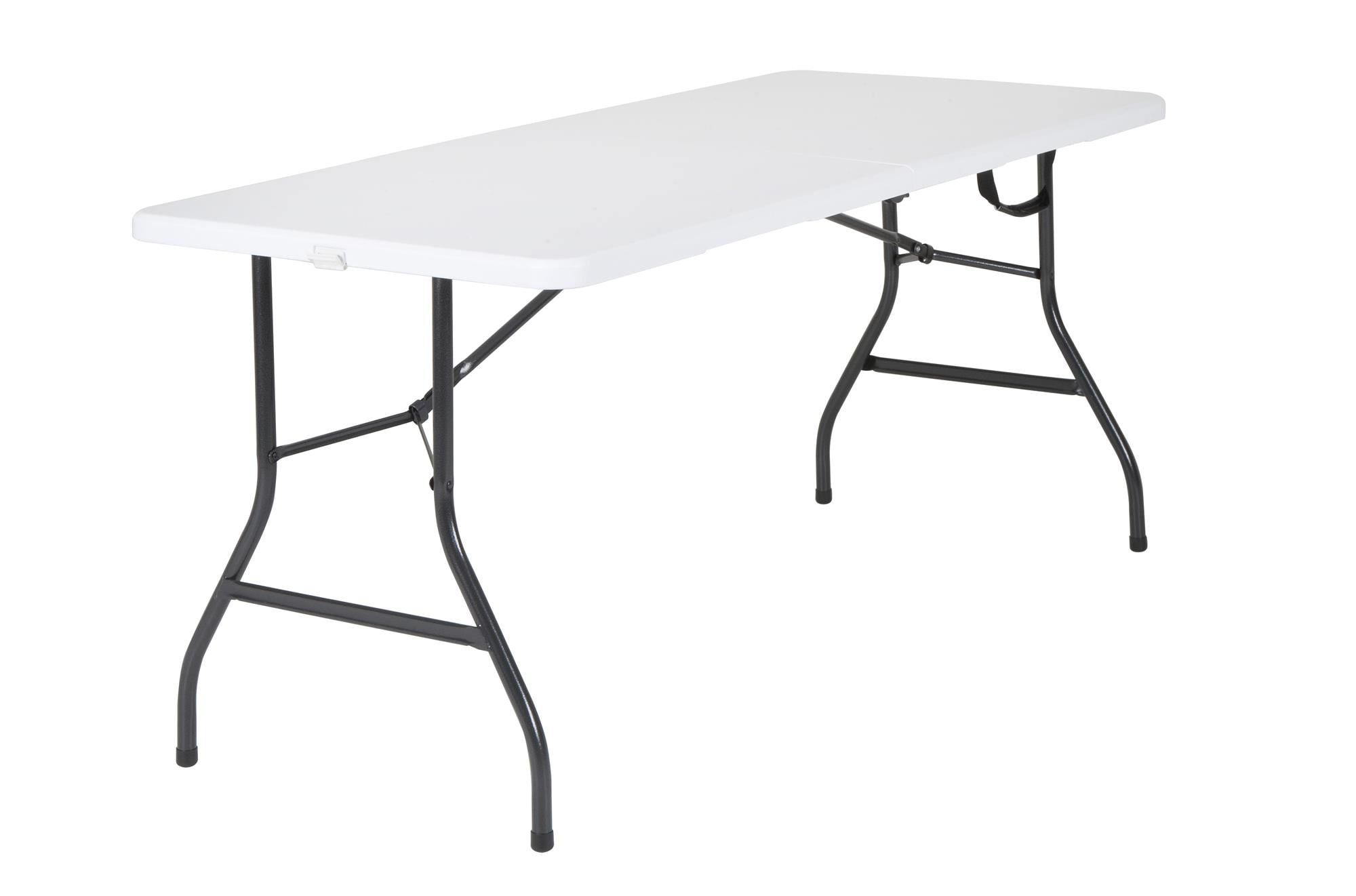 Mainstays 5 Foot Centerfold Folding Table, White - Walmart.com