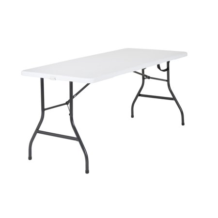 Mainstays 5 Foot Centerfold Folding Table, White
