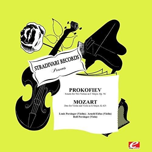 Prokofiev   Persinger, Louis Sonata for Two Violins C Major Op 56 [CD] by