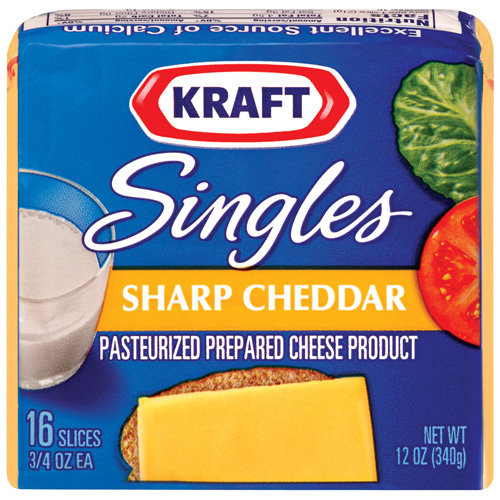 Kraft Singles Sharp Cheddar Slices 16 ct Cheese, 12 oz