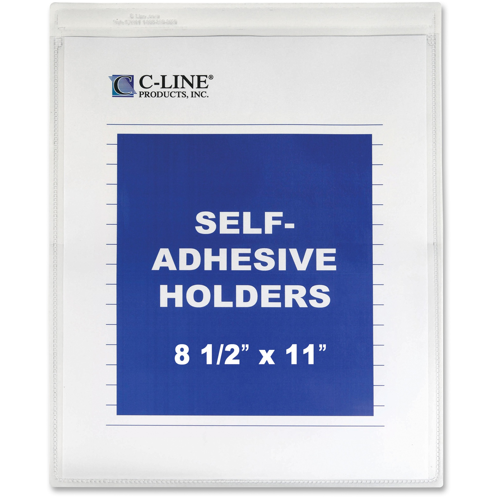 "C-Line Self-Adhesive Shop Ticket Holders, Heavy, 15"", 8 1/2 x 11, 50/BX"